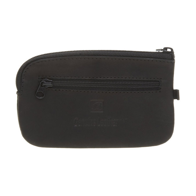 Leather purse bata, black , 944-6161 - 26
