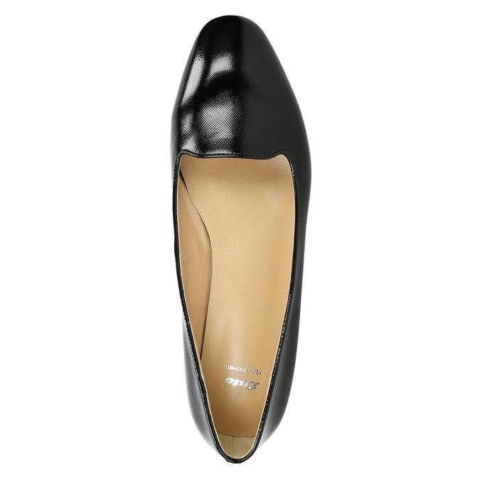 Ladies' leather ballerinas bata, black , 528-6630 - 26