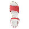 Low-heel leather sandals bata-touch-me, red , 666-5203 - 26