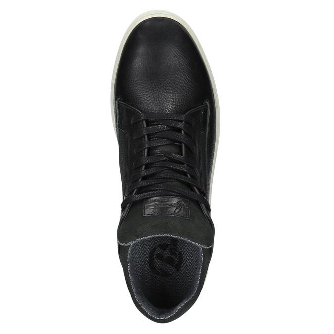 Men's casual sneakers bata, black , 844-6624 - 19