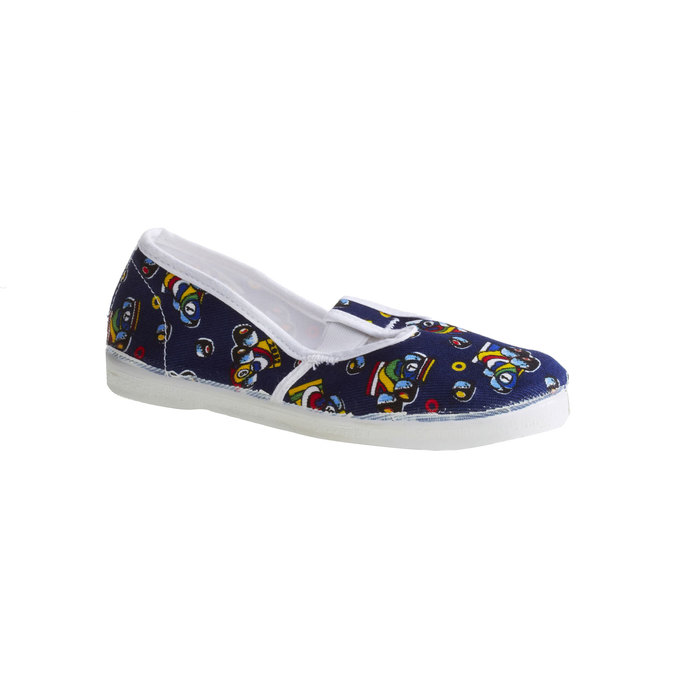 Kids' gym shoes with pictures bata, blue , 279-9102 - 13