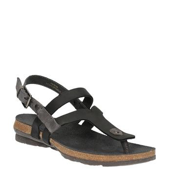 Ladies' leather sandals weinbrenner, black , 566-6101 - 13
