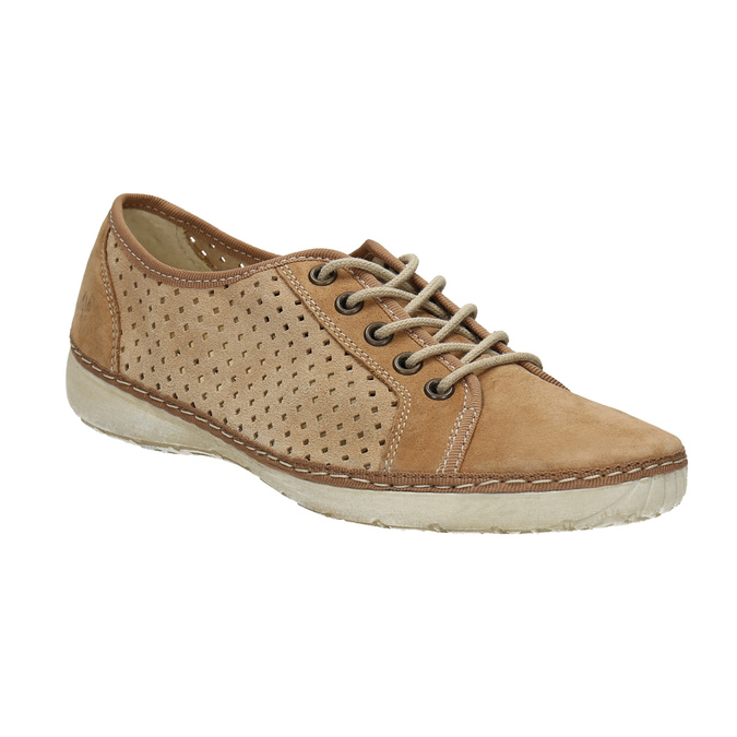 Leather sneakers weinbrenner, brown , 546-4238 - 13
