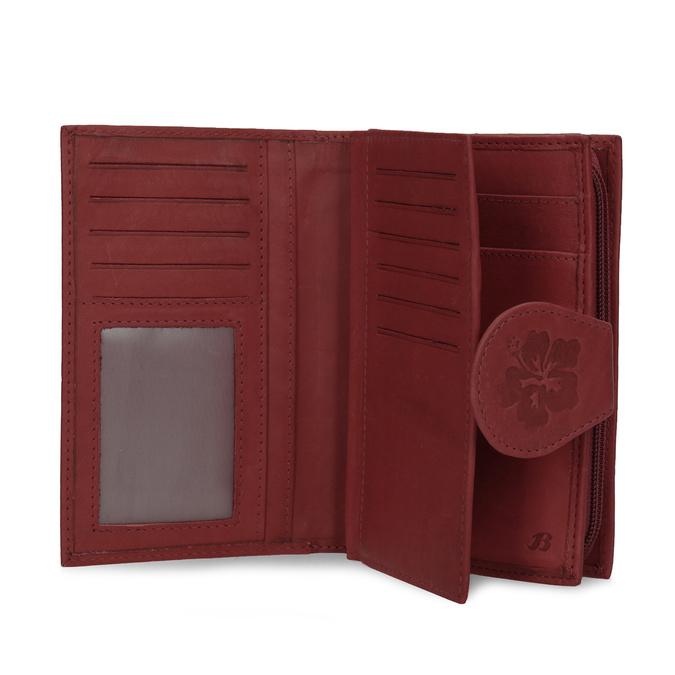 Ladies' leather purse bata, red , 944-5155 - 15