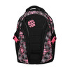 Girls´ school backpack with printed pattern bagmaster, black , 969-5615 - 19