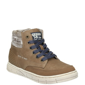 Boys´ ankle-cut sneakers mini-b, brown , 391-4600 - 13
