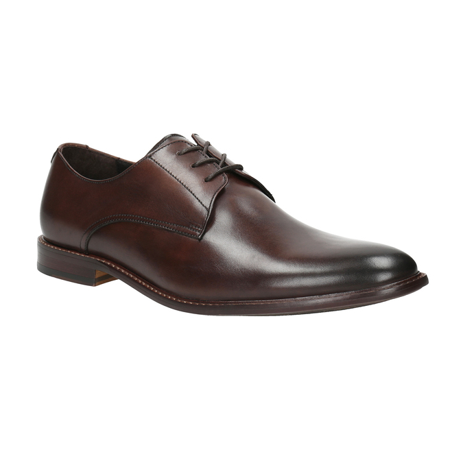 Brown leather shoes bata, brown , 824-4684 - 13