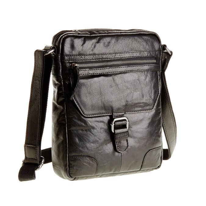 Leather Crossbody bag, black , 964-6180 - 13