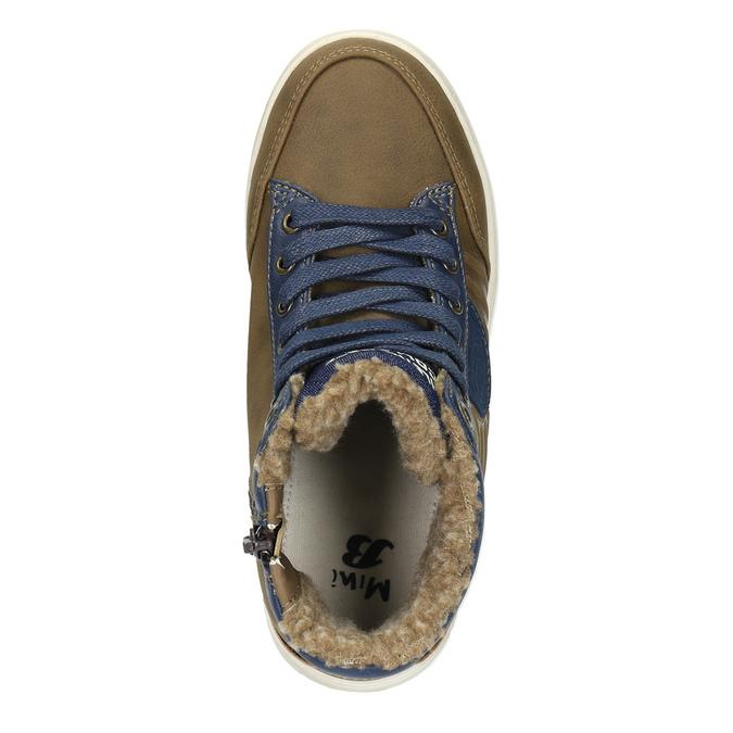 Children's sneakers with fur mini-b, brown , 491-4600 - 19