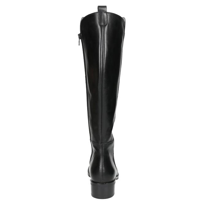 Ladies' leather high boots bata, black , 594-6586 - 17