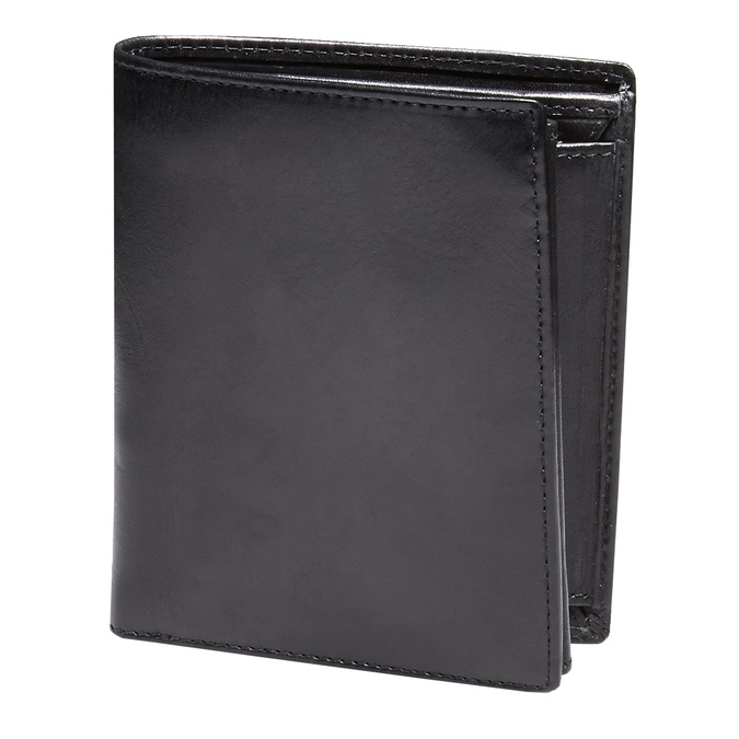 Men's leather wallet, black , 944-6121 - 13