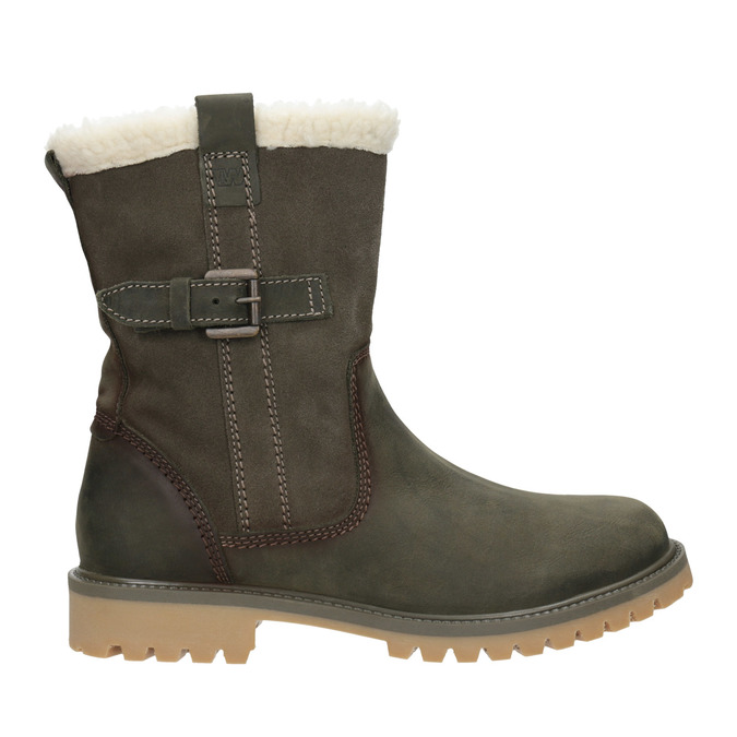 Ladies' winter boots with fur weinbrenner, gray , 594-2455 - 26