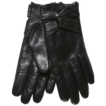 Ladies' leather gloves, black , 904-6109 - 13