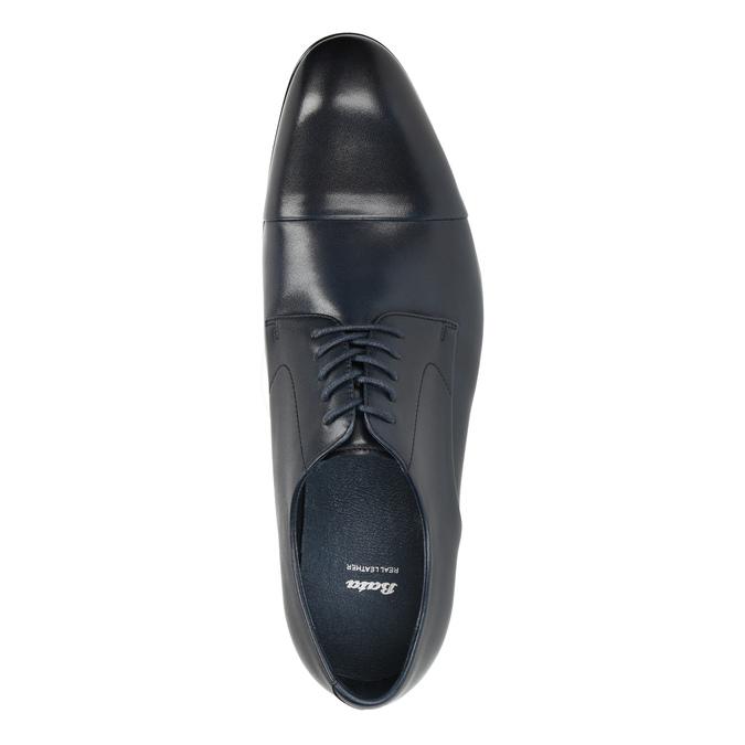 Blue leather shoes bata, blue , 826-9769 - 19