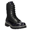 Laced leather shoes on a contrasting sole weinbrenner, black , 596-9635 - 13