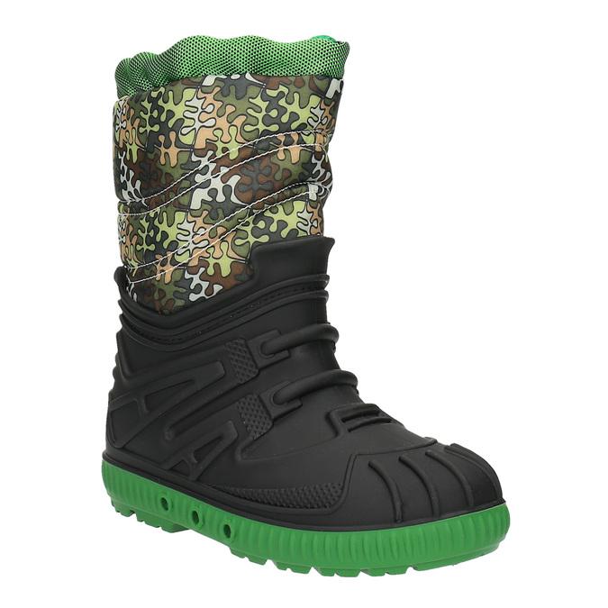 Children's insulated winter snow boots mini-b, green, 392-7200 - 13