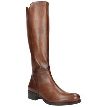 Ladies' leather Cossacks bata, brown , 594-3586 - 13