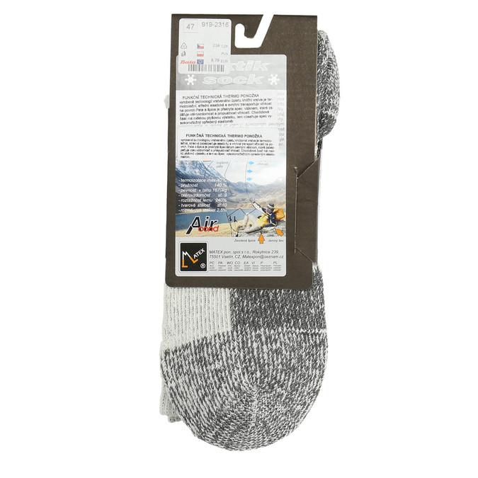 Men's outdoor socks, gray , 919-2316 - 15