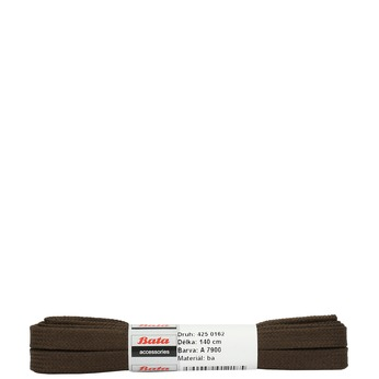 Brown flat laces, brown , 901-4140 - 13