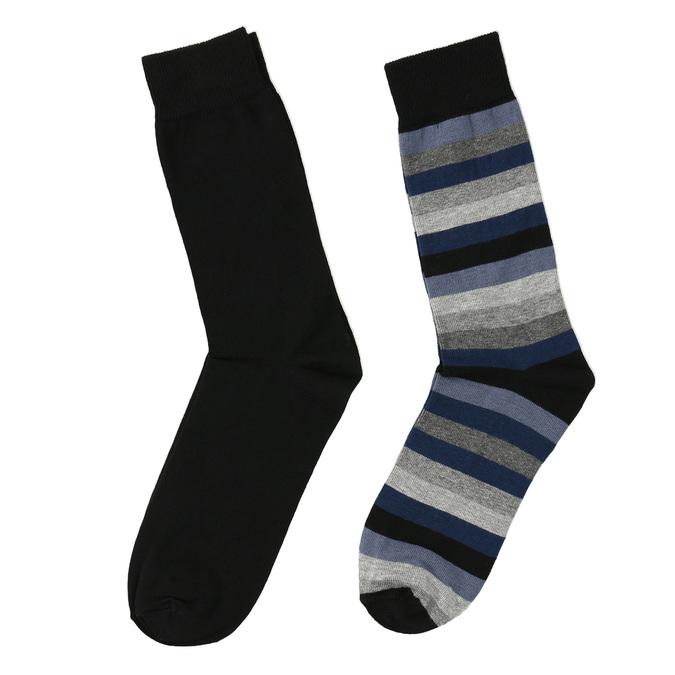 2 pairs men's socks bata, black , 919-6411 - 26