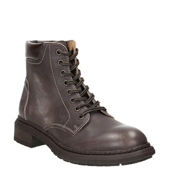 Ladies' leather ankle boots weinbrenner, brown , 596-4632 - 13
