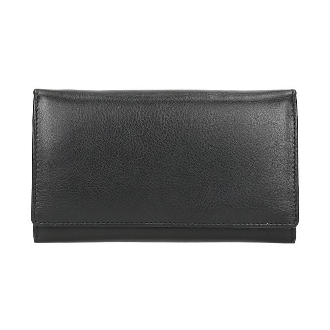 Ladies' leather purse bata, black , 944-6357 - 26