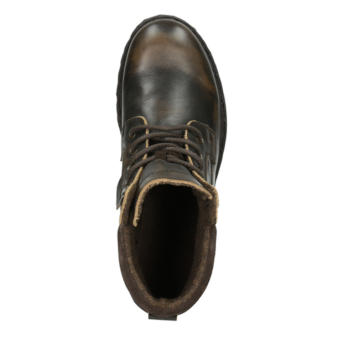 Men´s leather ankle-cut footwear weinbrenner, brown , 896-4110 - 19