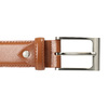 Men's brown leather belt bata, brown , 954-3153 - 26