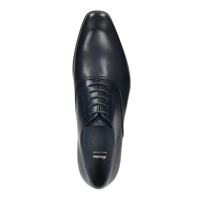 Dark-blue leather Oxford shoes bata, blue , 826-9808 - 19
