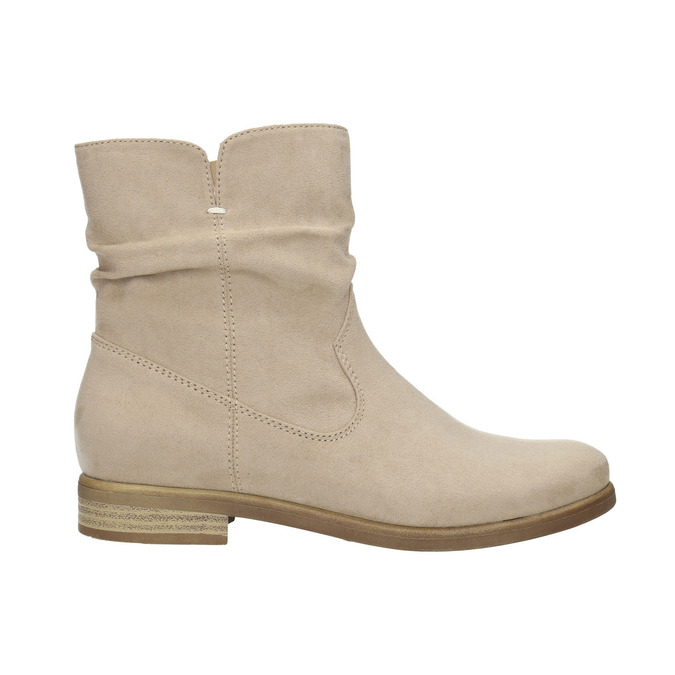Ladies' high ankle boots bata, beige , 599-8614 - 15