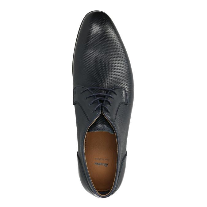Blue leather shoes bata, blue , 826-9794 - 19
