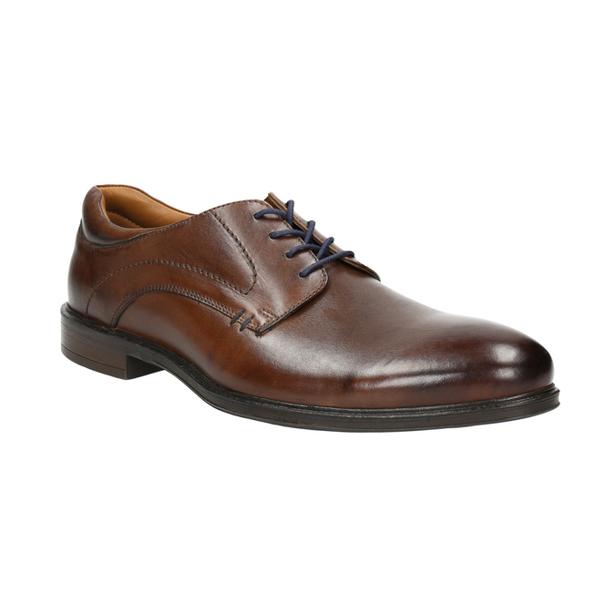 Men's brown leather shoes bata, brown , 826-4800 - 13