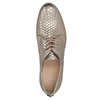 Leather shoes with scale motif bata, gold , 526-8627 - 19