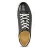 Men's leather sneakers bata, black , 846-6617 - 17