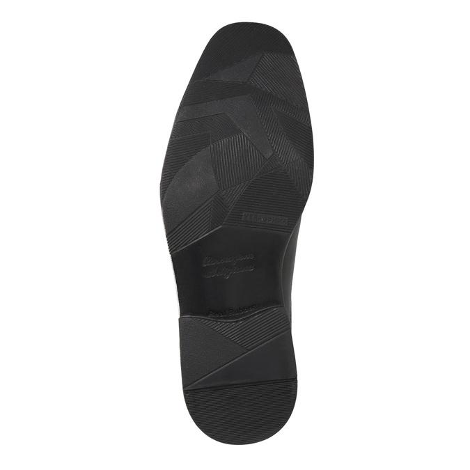Men's leather shoes bata, black , 824-6839 - 26