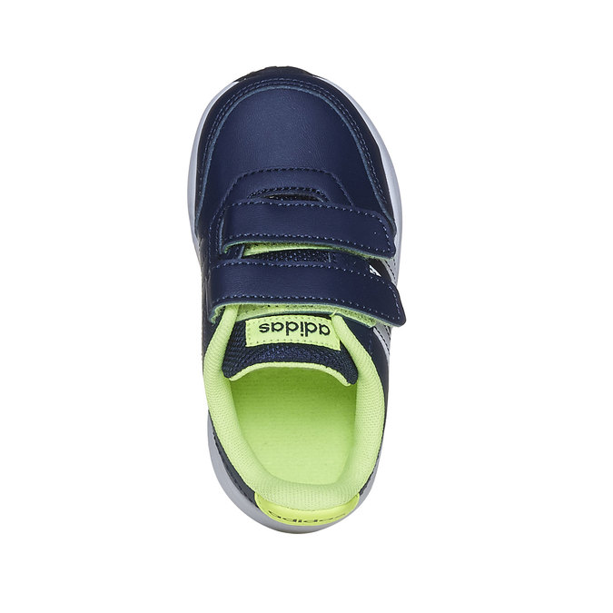 Children's sneakers with Velcro fasteners adidas, blue , 109-9163 - 19