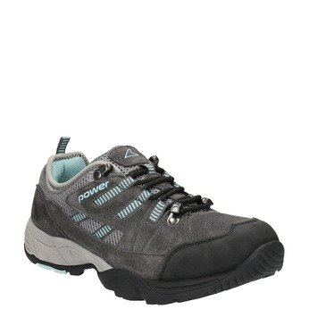 Ladies' leather outdoor shoes power, gray , 503-2118 - 13
