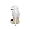 White leather pumps with ankle strap insolia, white , 728-1640 - 17