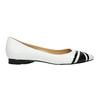 Ladies´ leather ballerinas bata, white , 524-1602 - 15