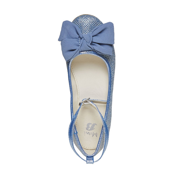 Girls' blue ballet pumps mini-b, blue , 329-9241 - 19