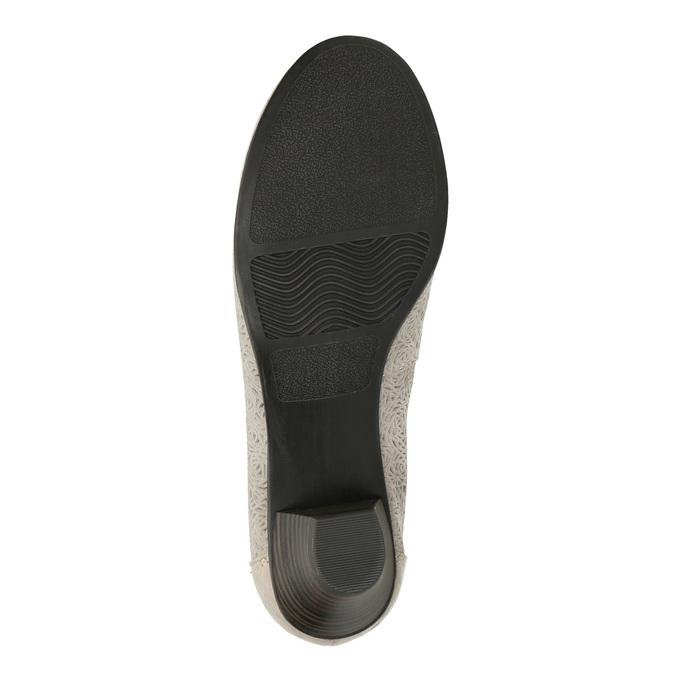 Leather pumps width H bata, gray , 623-2602 - 26