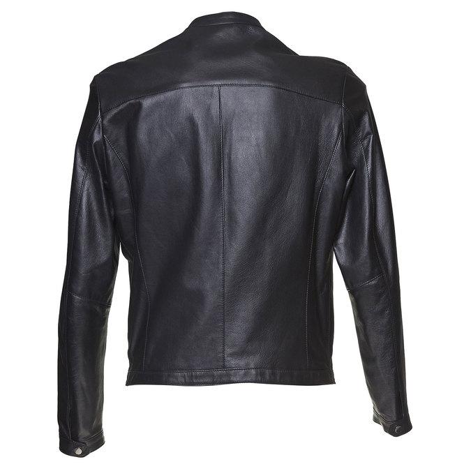 Men's leather jacket bata, black , 974-6164 - 26