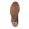 Leather pumps with strap across instep bata, blue , 626-9641 - 26