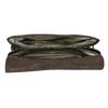 Leather handbag with crocodile pattern vagabond, brown , 966-3030 - 15