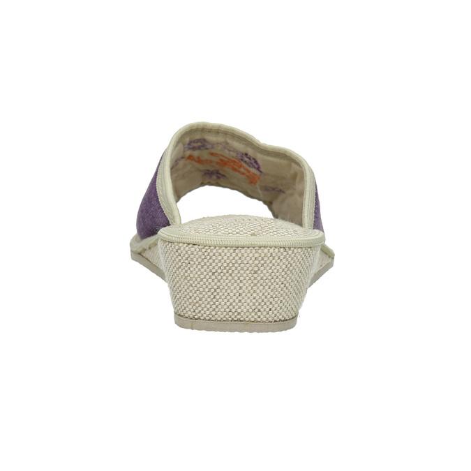 Ladies' wedge-heel slippers bata, violet , 679-5620 - 17