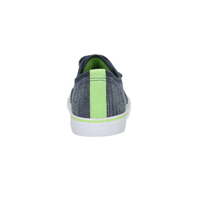 Children's sneakers with Velcro north-star-junior, blue , 419-9611 - 17