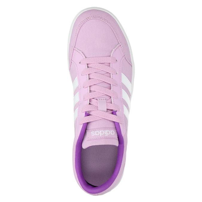 Girls' purple sneakers adidas, violet , 489-9119 - 19
