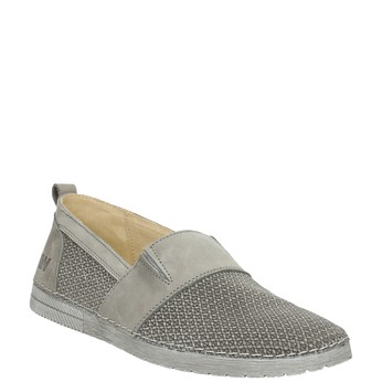 Ladies' leather slip-ons weinbrenner, gray , 513-2263 - 13