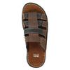 Men's leather slip-ons bata, brown , 866-4611 - 19