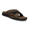 Men's leather slip-ons bata, brown , 866-4612 - 13